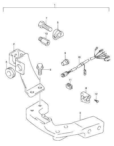suzuki remote control attaching kit df9 9  df15 2001 to