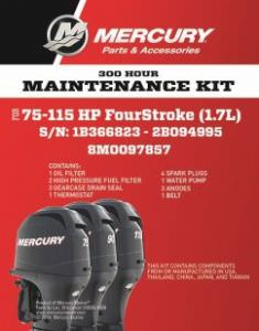 OEM Service Kits Mercury/Mariner OBM 100hr F75/F80/ F115 EFI 1.7L (click for enlarged image)
