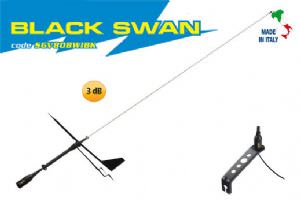 Supergain Antenna- Black Swan 860mm Universal VHF antenna (click for enlarged image)